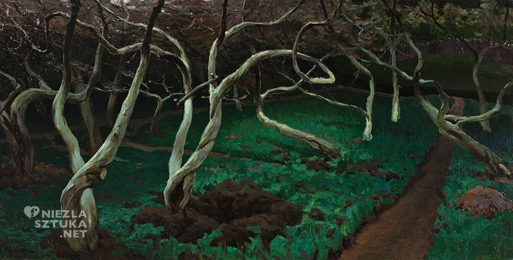 Ferdynand Ruszczyc, Stare jabłonie,1900, Muzeum Narodowe w Warszawie, polskie malarstwo, sztuka polska, Niezła sztuka