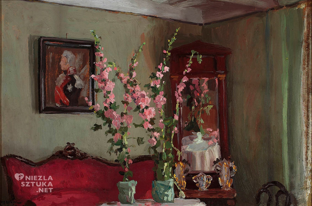 Ferdynand Ruszczyc, Wnętrze salonu w Bohdanowie - Malwy | 1905, Muzeum Narodowe w Warszawie, sztuka polska, malarstwo polskie, Niezła sztuka