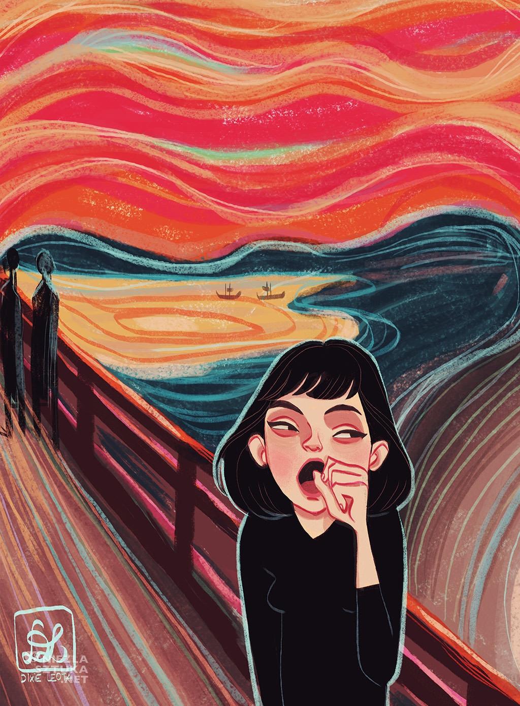 Edvard Munch, Krzyk, Dixie Leota, Niezła sztuka