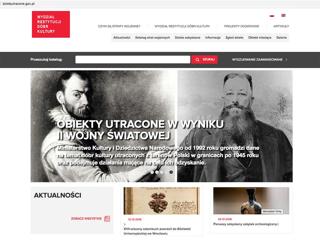 http://dzielautracone.gov.pl, Wydział restytucji dóbr kultury, Niezła sztuka