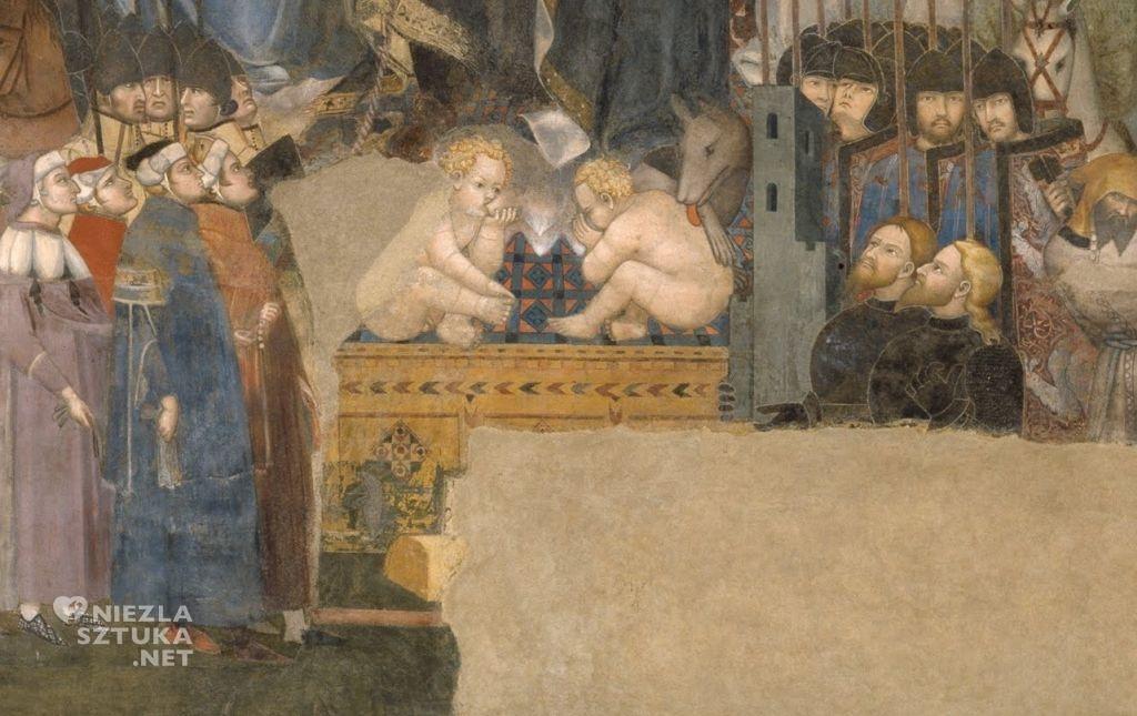 Ambrogio Lorenzetti Alegoria dobrych rządów, detal | 1338-1339, freski, Palazzo Pubblico, Siena
