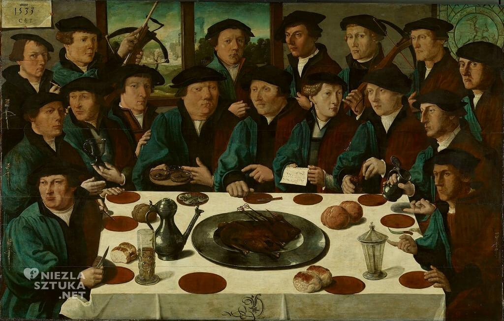 Anthonisz, Cornelis Bankiet amsterdamskiej gwardii obywatelskiej łuczników 1533,