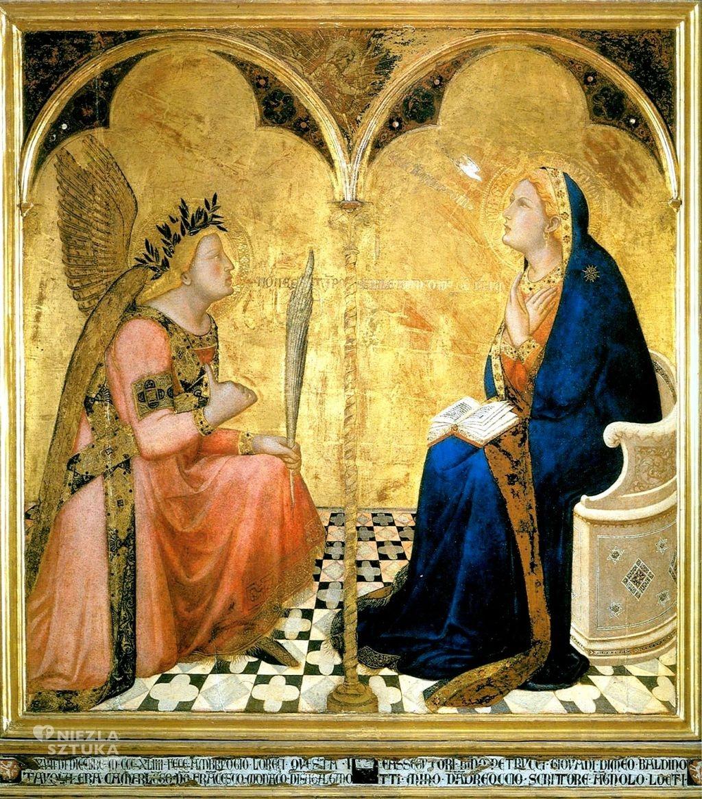 Ambrogio Lorenzetti Zwiastowanie | 1344, Pinacoteca Nazionale, Siena