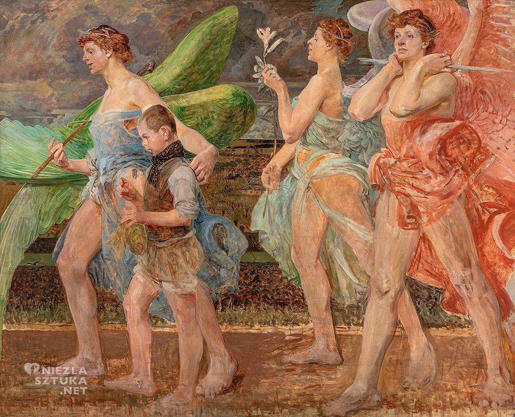 Jacek Malczewski, Tobiasz z aniołem | około 1908 r, Muzeum Śląskie, Niezła sztuka