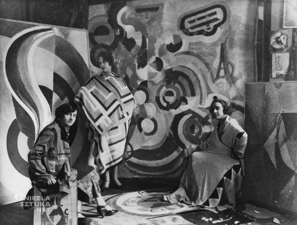 Sonia Delaunay z przyjaciółkami w studio Roberta Delaunay'a przy Rue des Grands-Augustins, Niezła Sztuka