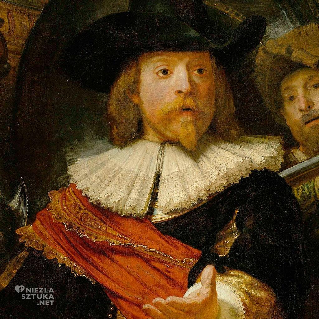 Kapitan Frans Banning Cocq - Rembrandt Oddział kapitana Fransa Banninga Cocqa (Straż nocna) | 1642