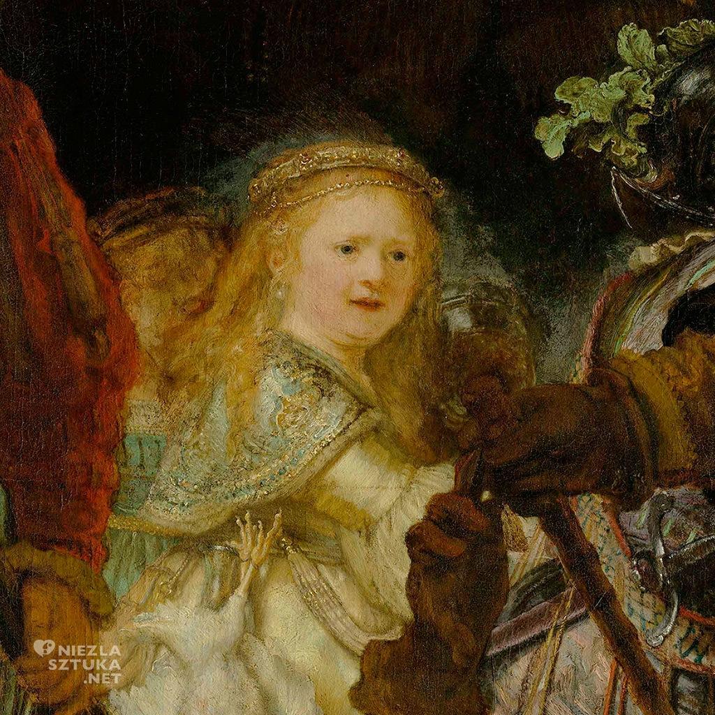Rembrandt <em>Oddział kapitana Fransa Banninga Cocqa (Straż nocna), detal </em> | 1642