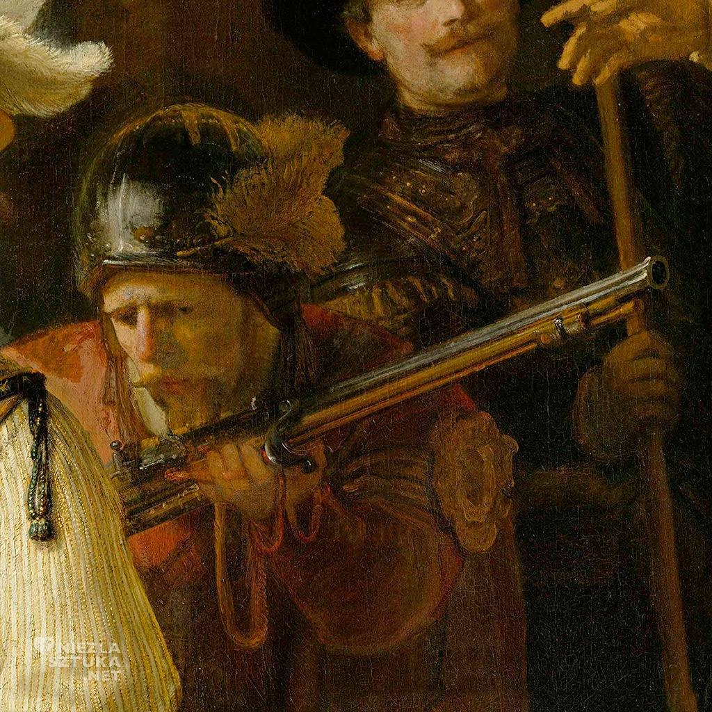 Rembrandt Oddział kapitana Fransa Banninga Cocqa (Straż nocna), detal | 1642
