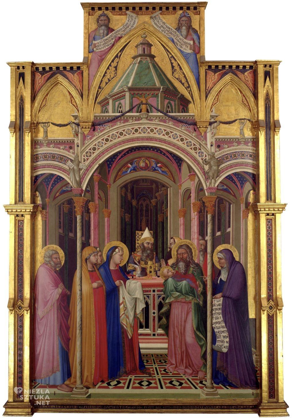 Ambrogio Lorenzetti Prezentacja w świątyni | 1342, Uffizi, Florencja