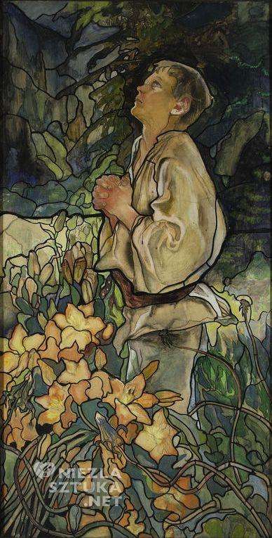 """Kazimierz Sichulski, Tryptyk """"Wiosna I"""" (projekt witraża – część prawa), 1909, Muzeum Narodowe w Warszawie"""