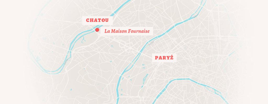mapa Chatou koło Paryża