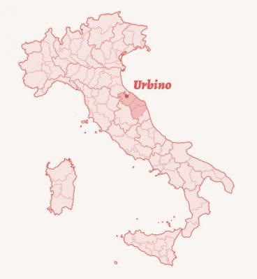 Mapa Włoch Urbino, Niezła sztuka