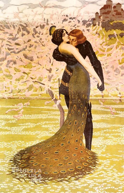 Edward Okuń, Upojenia wiosenne | ok. 1906, obraz zaginiony, Niezła sztuka