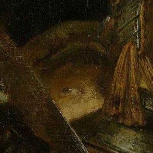 Sam Rembrandt? - Rembrandt <em>Oddział kapitana Fransa Banninga Cocqa (Straż nocna), detal </em> | 1642