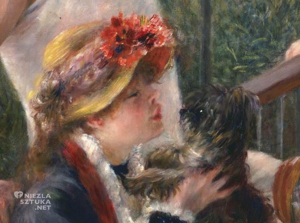 Auguste Renoir, Śniadanie wioślarzy, detal, impresjonizm, Niezła Sztuka