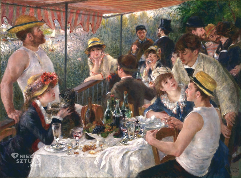 Auguste Renoir, Śniadanie wioślarzy, impresjonizm, Niezła Sztuka