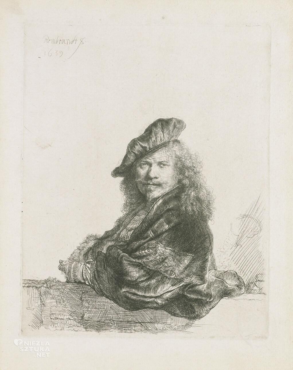 Rembrandt <em>Autoportret</em> | 1639, akwaforta, Rijksmuseum, Amsterdam