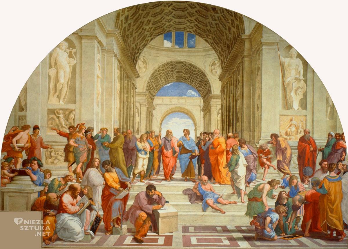 Rafael Santi, Szkoła ateńska, 1509-1511, Fresk, Stanza Della Segnatura, Watykan