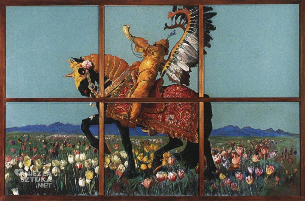 Leon Wyczółkowski, Rycerz wśród kwiatów | 1904, Biblioteka Polska w Paryżu