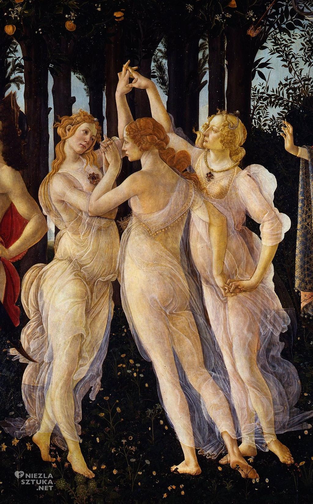 Sandro Botticelli, Wiosna, detal, Niezła Sztuka