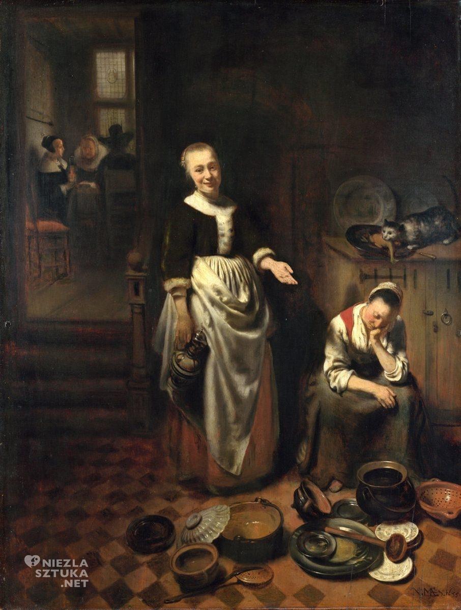 Nicolaes Maes Leniwa służąca, National Gallery, Londyn, Niezła sztuka