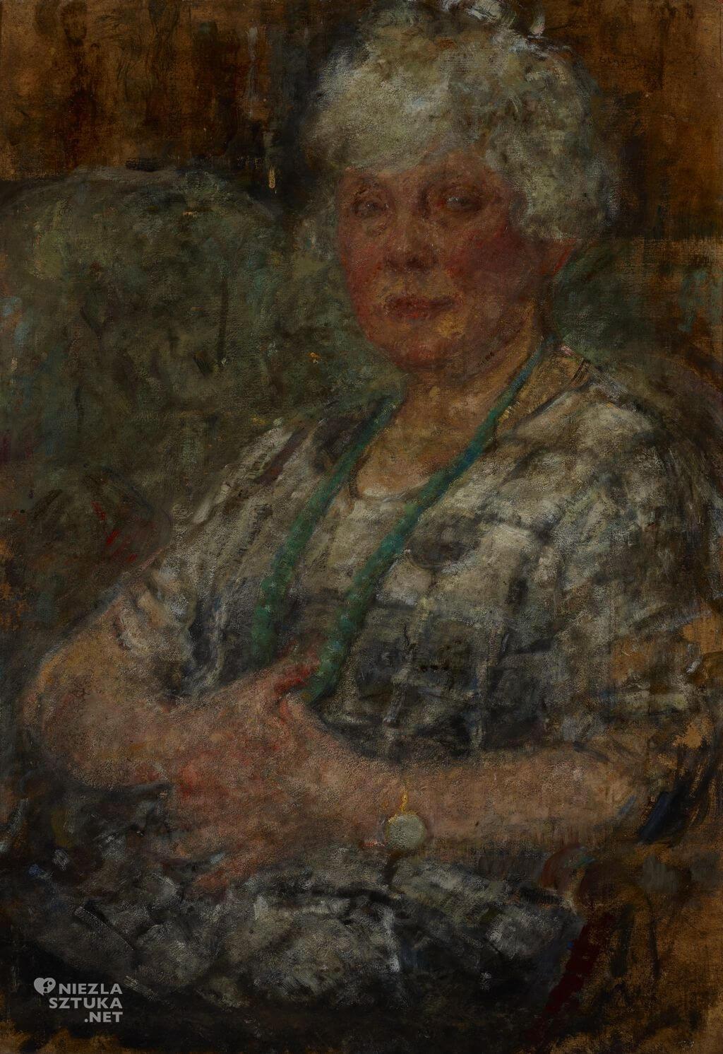Olga Boznańska, Portret M. Thomasson, Portret malarki Pani Thomasson, sztuka polska, Niezła sztuka
