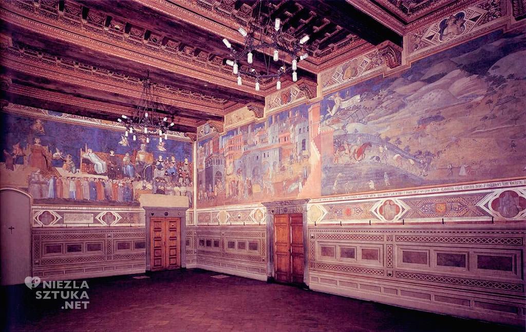 Wnętrze Palazzo Pubblico, Sala della Pace