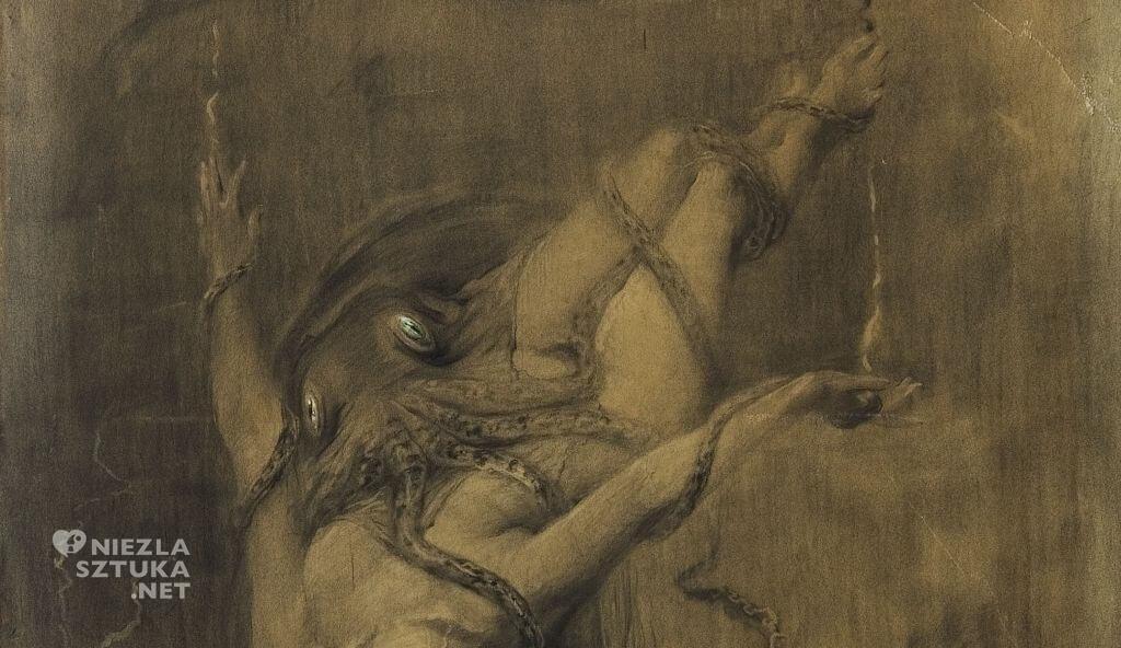 Antoni Kamieński, malarstwo polskie, Topielica. Rozpacz, Muzeum sztuki w Łodzi, Pałac Herbsta, Niezła sztuka