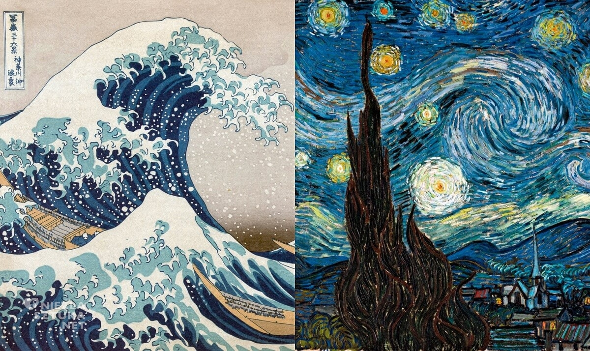 Hokusai Katsushika, Wielka fala, Vincent van Gogh, Gwiazdzista noc, Moma, Niezła sztuka