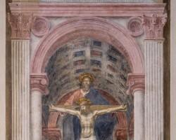 Masaccio, Trójca Święta, ok. 1425, fresk, Kościół Santa Maria Novella, Florencja, Niezła sztuka