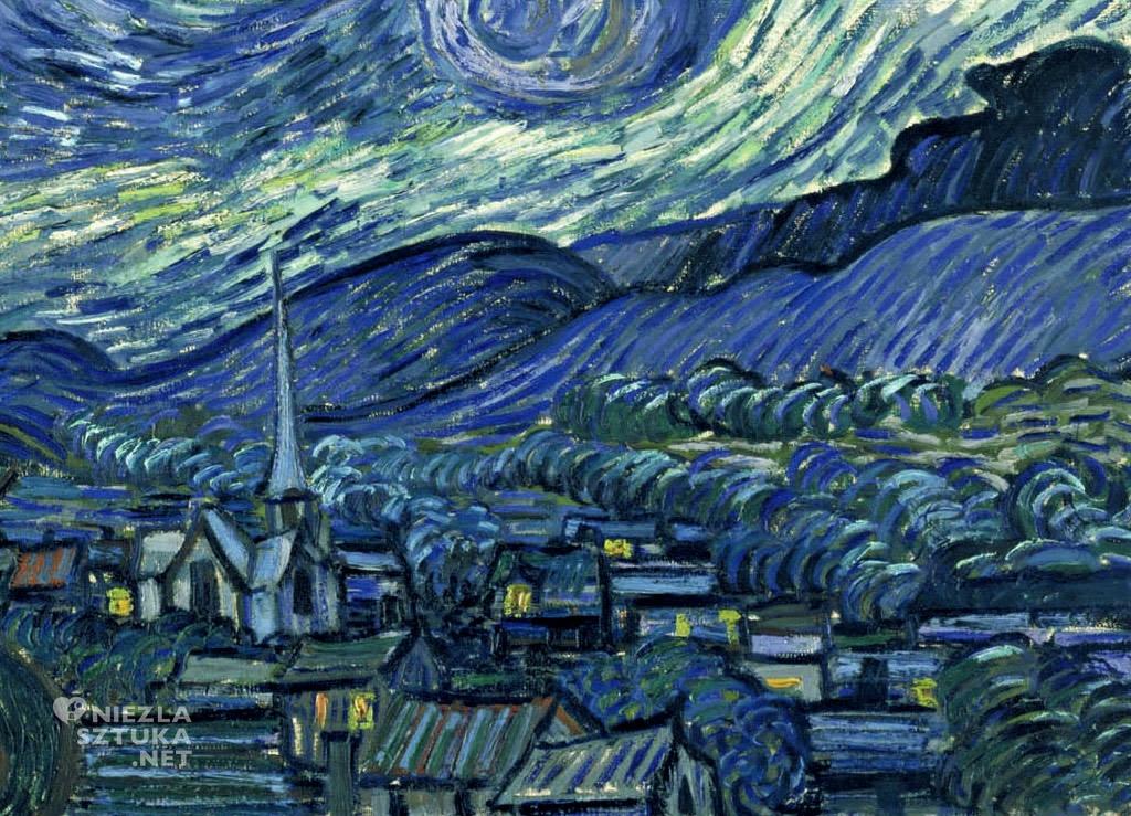 Vincent van Gogh, Gwiaździsta noc, detal, Niezła Sztuka