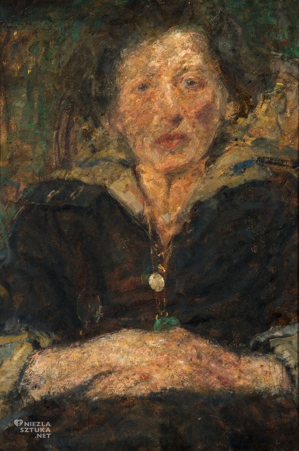 Olga Boznańska, Portret pianistki Fridy Eissler, sztuka polska, Niezła sztuka