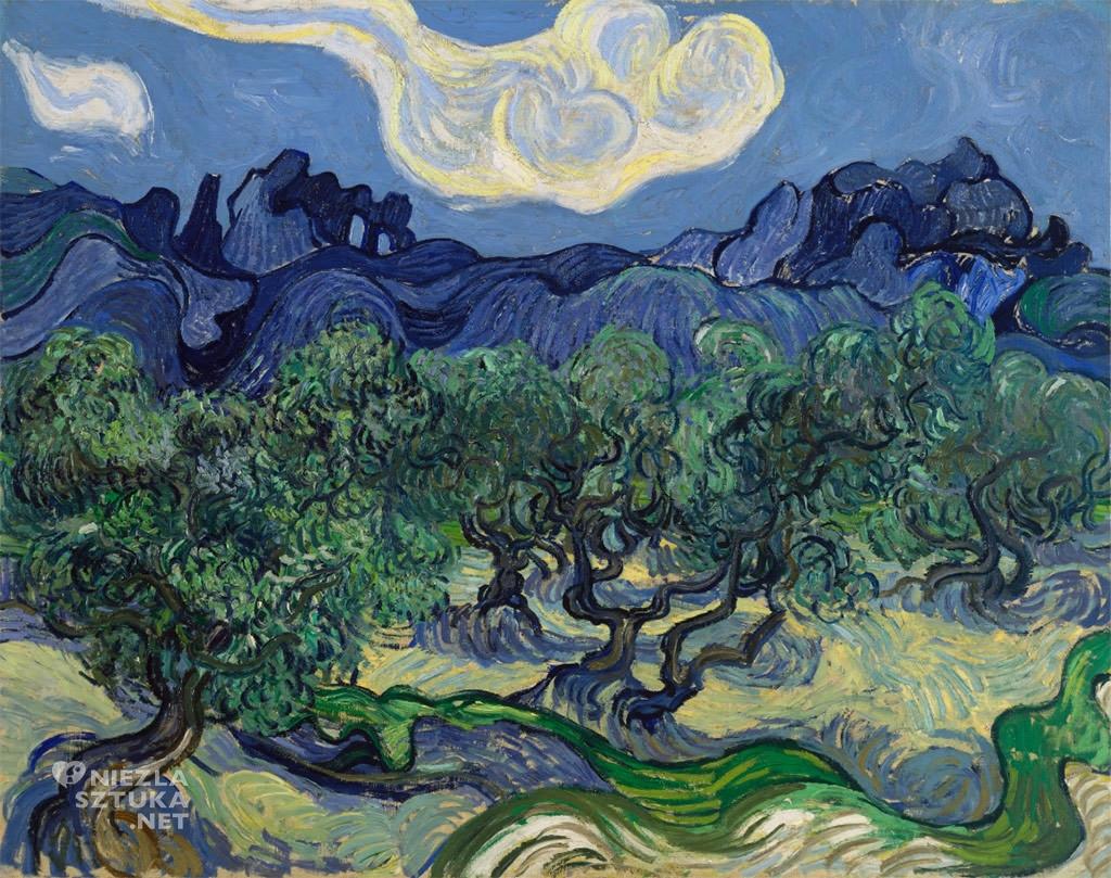 Vincent van Gogh, Drzewa oliwne | 1889, Moma, Nowy Jork, Niezła sztuka