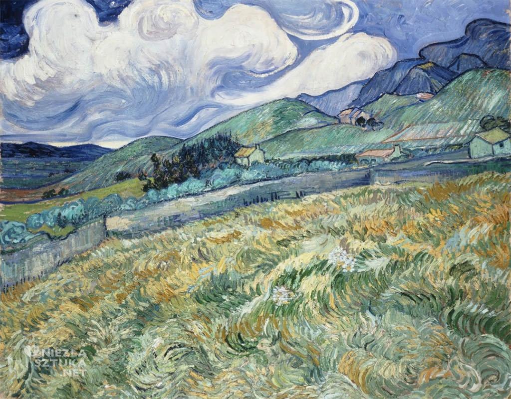 Vincent van Gogh, Pejzaż z Saint-Rémy, krajobraz, Francja, Niezła Sztuka