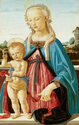 Andrea del Verrocchio, Madonna z Dzieciątkiem, sztuka włoska, Niezła sztuka