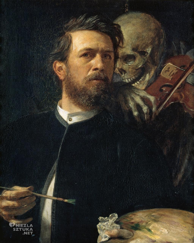 Arnold Böcklin, Autoportret ze śmiercią grającą na skrzypcach | 1872, Alte Nationalgalerie, Berlin, Niezła sztuka
