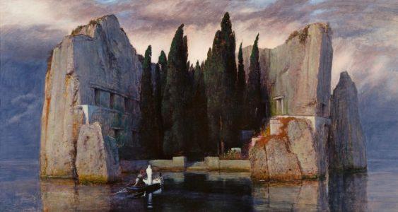 Arnold Böcklin, Wyspa umarłych, slajd