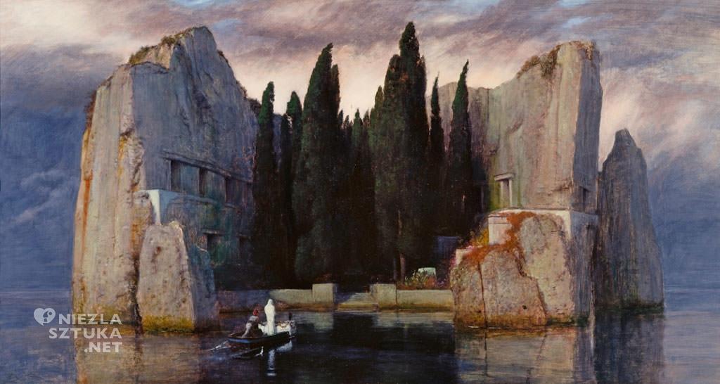 Arnold Böcklin, Wyspa umarłych, Berlin, mitologia, malarstwo mitologiczne, Niezła Sztuka