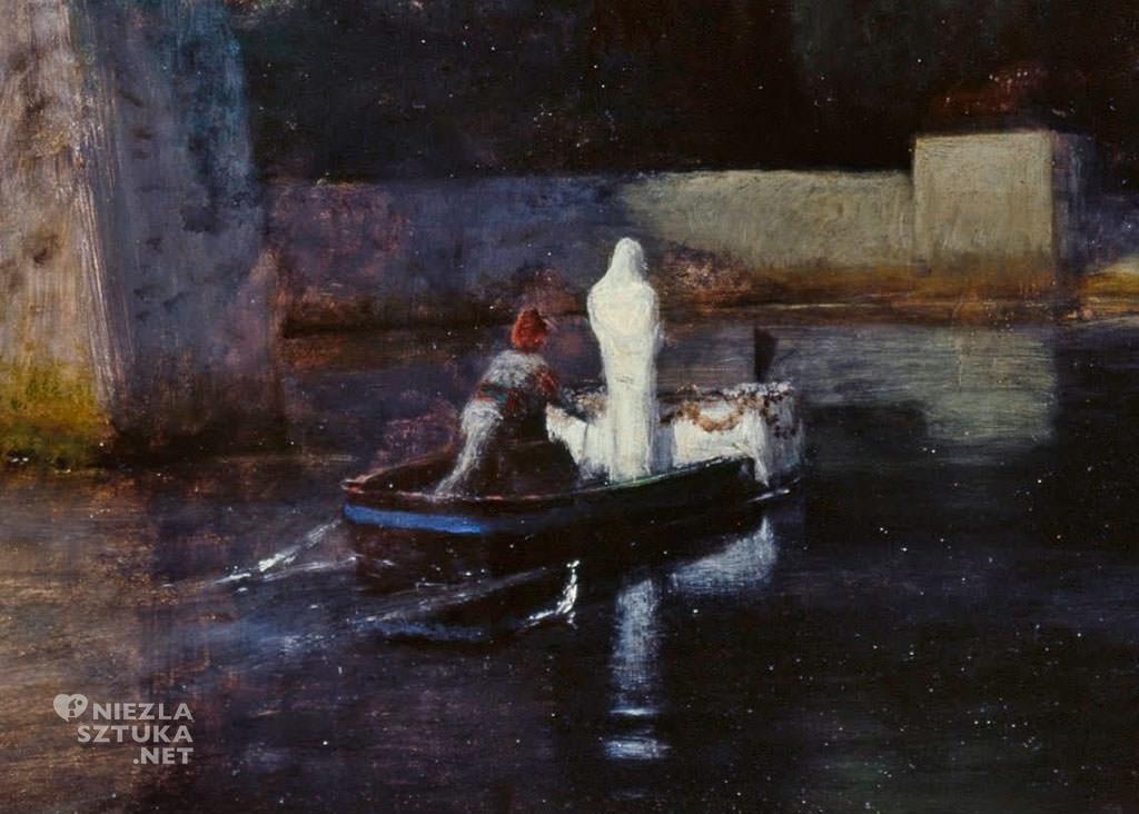 Arnold Böcklin, Wyspa umarłych, Berlin, symbolizm, mitologia, malarstwo mitologiczne, Niezła Sztuka
