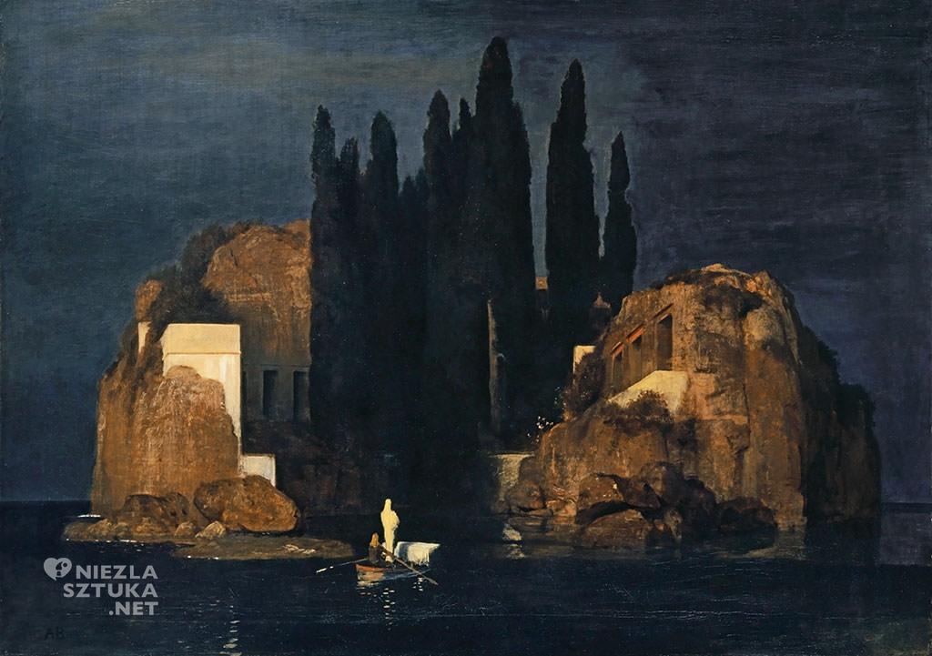 Arnold Böcklin, Wyspa umarłych, Bazylea, mitologia, malarstwo mitologiczne, Niezła Sztuka