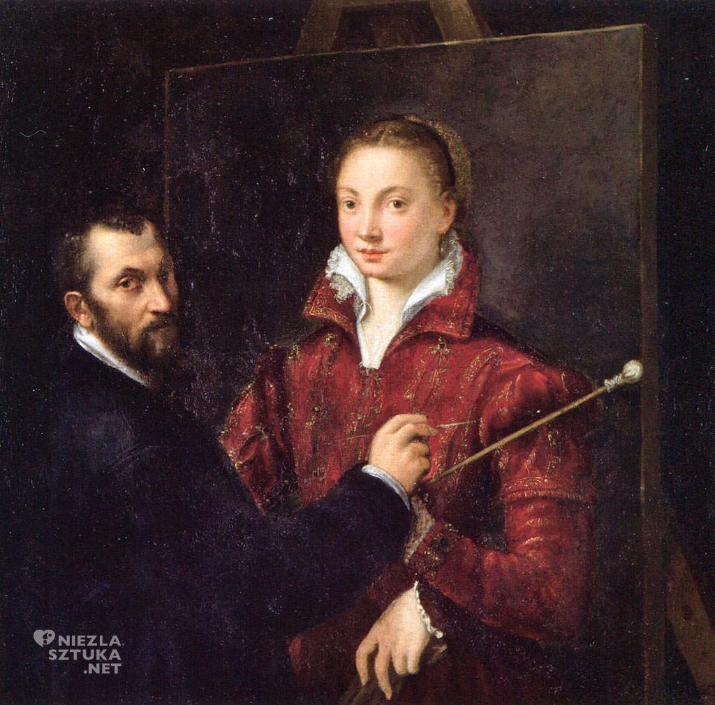 Sofonisba Anguissola, Bernardino Campi malujący Sofonisbę Anguissolę, malarstwo włoskie, Niezła sztuka