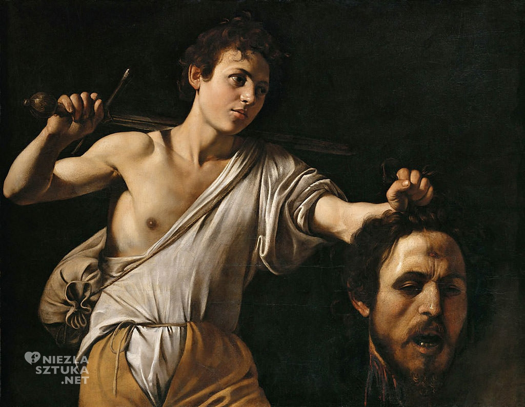 Caravaggio, Dawid z głową Goliata, Wiedeń, sztuka włoska, Niezła sztuka