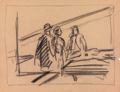 Edward Hopper, Conference at night, neoklasycyzm, malarstwo historyczne, scena rodzajowa, malarstwo amerykańskie, Niezła Sztuka