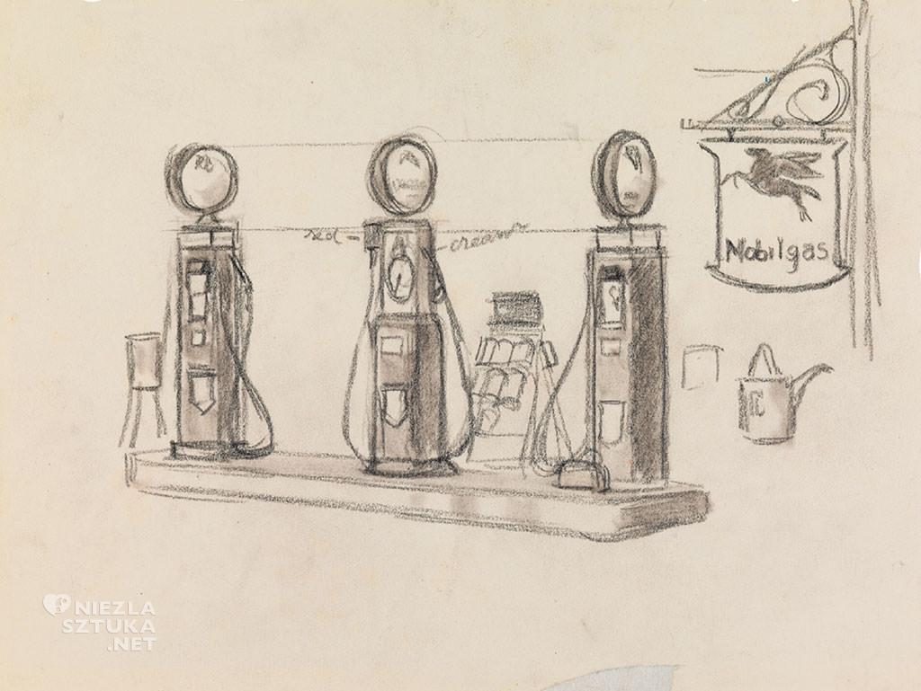 Edward Hopper, Gas, malarstwo amerykańskie, scena rodzajowa, Niezła Sztuka