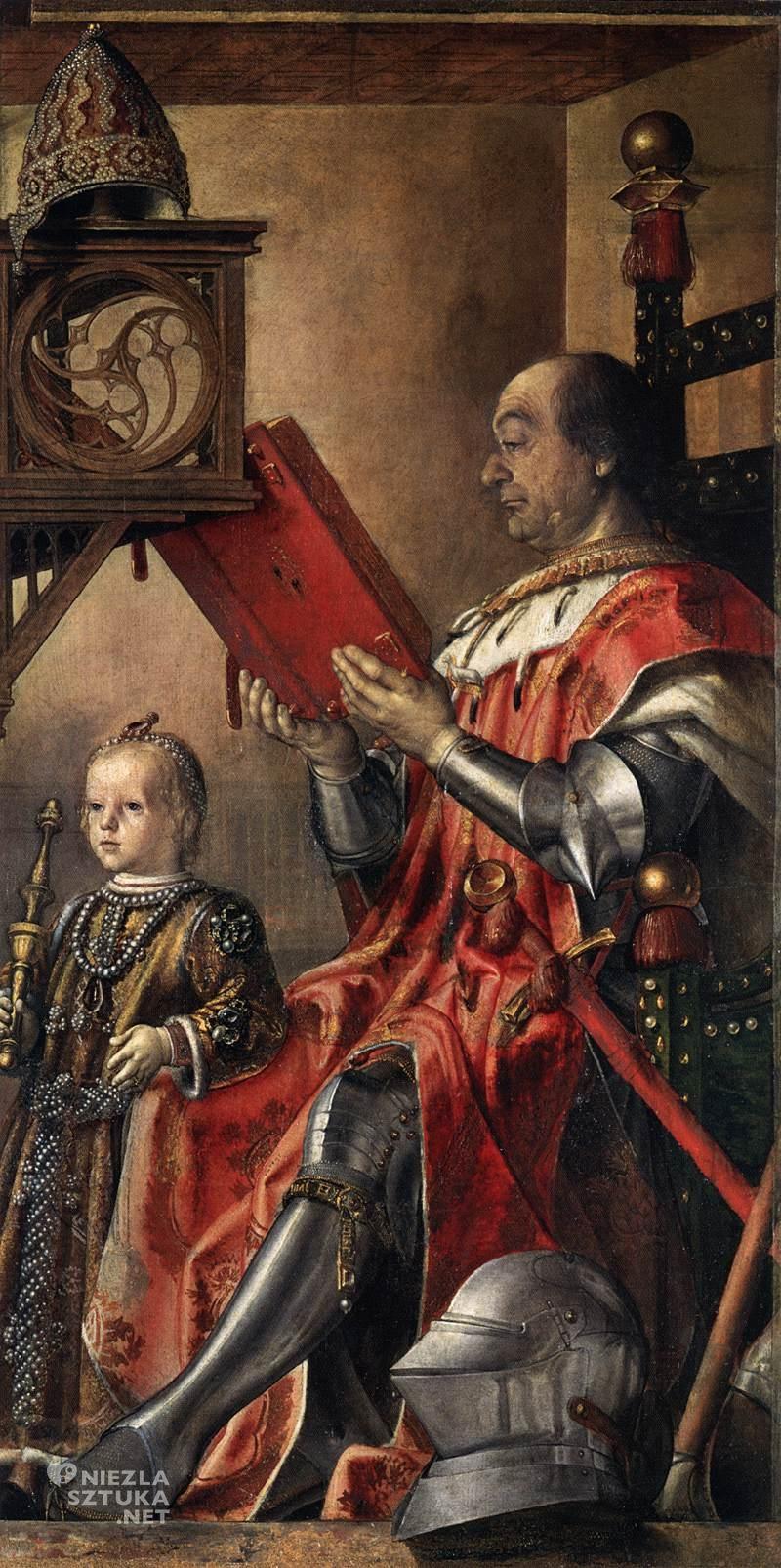 Pedro Berruguete, Federico da Montefeltro z synem, Palazzo Ducale, Urbino, Niezła sztuka