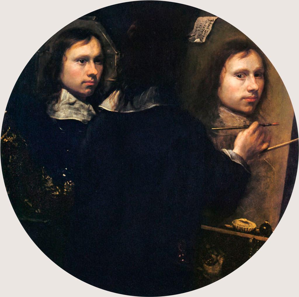 Johannes Gumpp, Potrójny autoportret, malarstwo, niezła sztuka