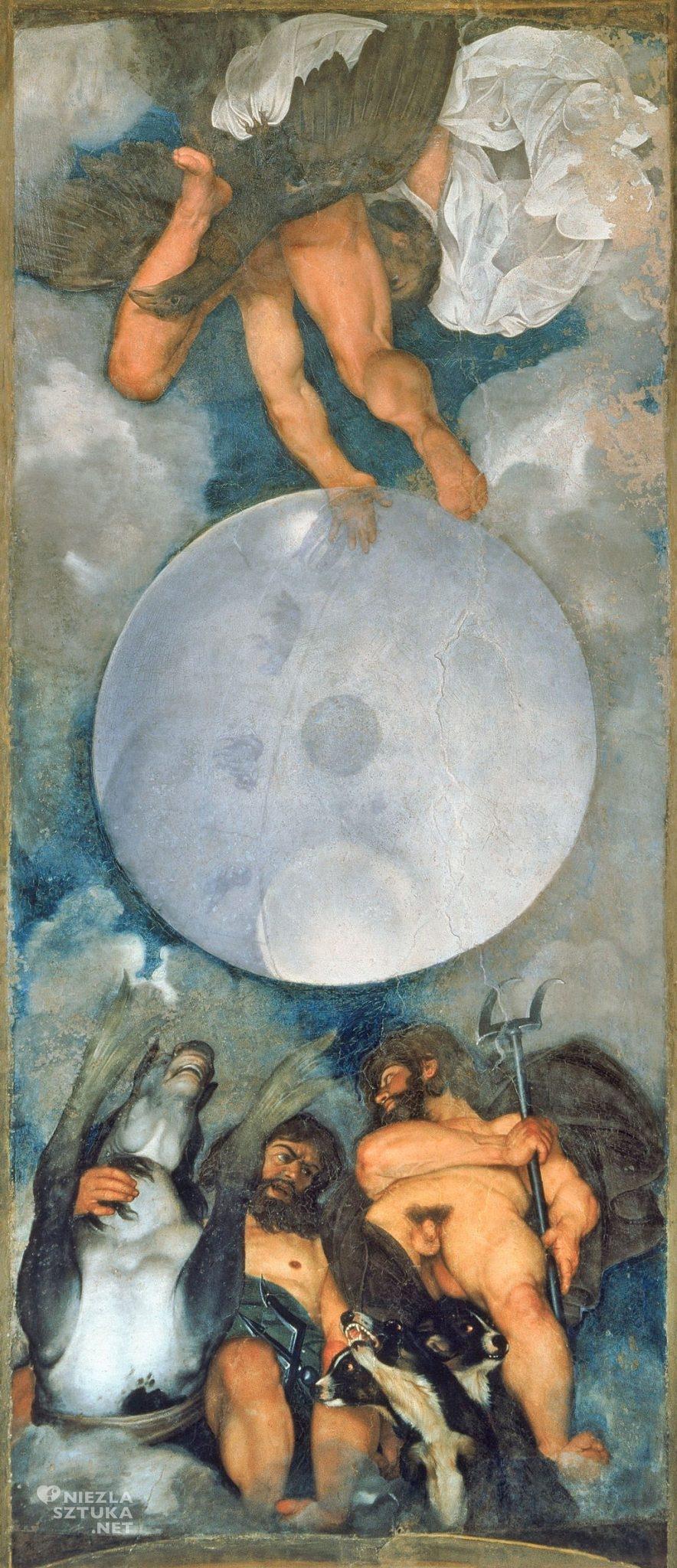 Caravaggio, Jowisz, Neptun i Pluton, malarstwo włoskie, Niezła sztuka