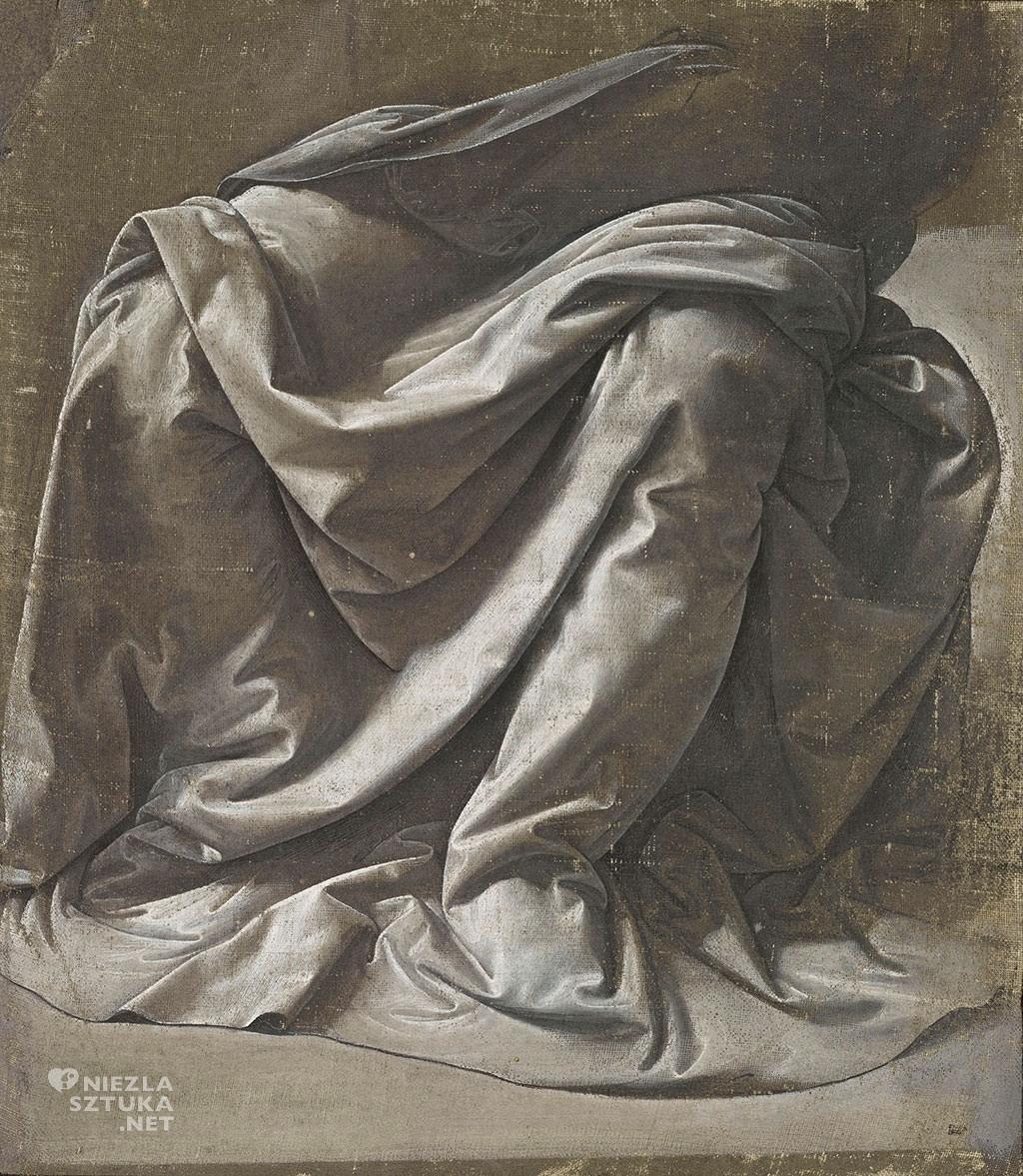 Leonardo da Vinci, Draperia siedzącej postaci, sztuka włoska, Niezła sztuka