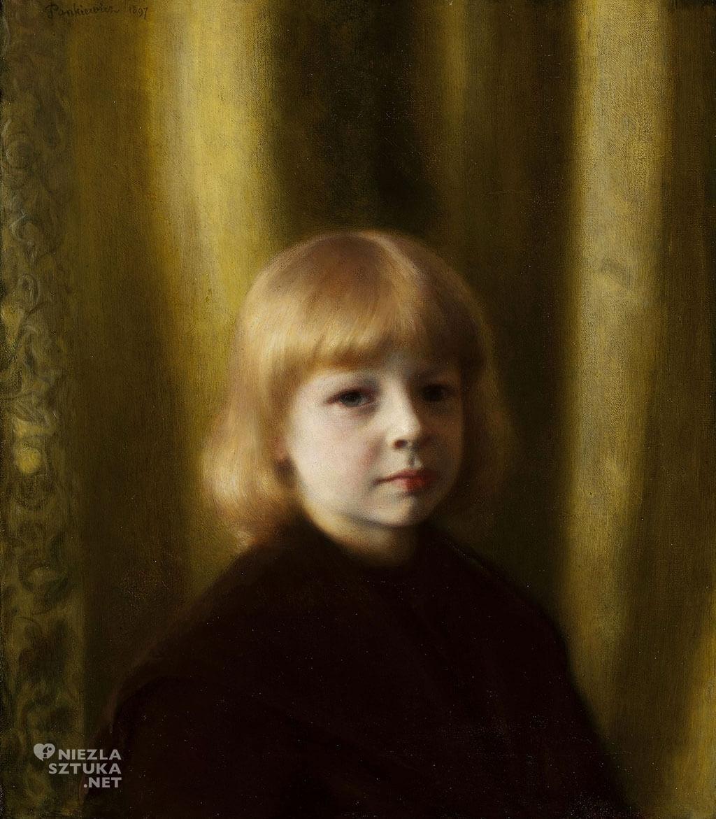 Józef Pankiewicz, Portret Stefana Polczyńskiego, malarstwo polskie, sztuka polska, Niezła sztuka, dziecko w sztuce, dziecko w malarstwie