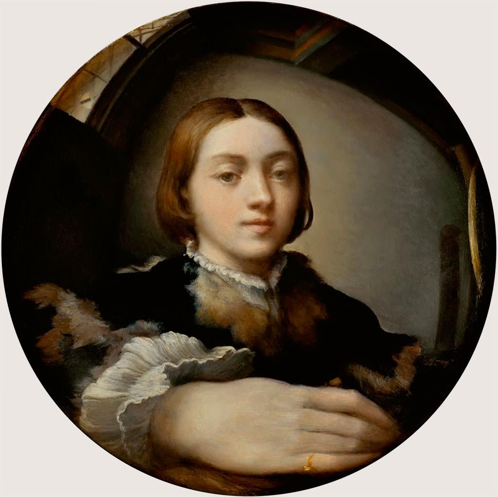Parmigianino, Autoportret w lustrze, malarstwo włoskie, niezła sztuka